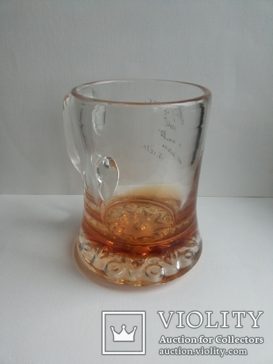 Пивная кружка массивная чешское цветное стекло, фото №10