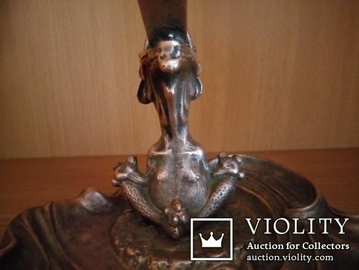 Пепельница.Спичечница.Крокодил.Бронза.СССР, фото №6