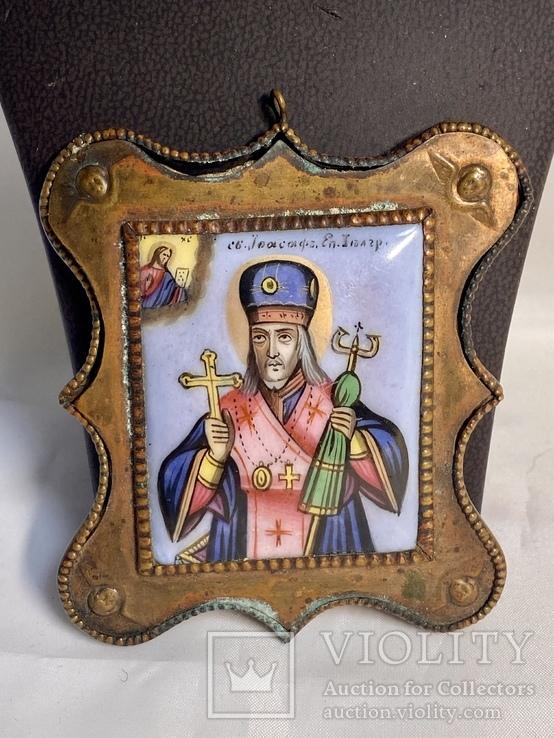 Финифть икона Св.Иоасаф еп. Белгородский