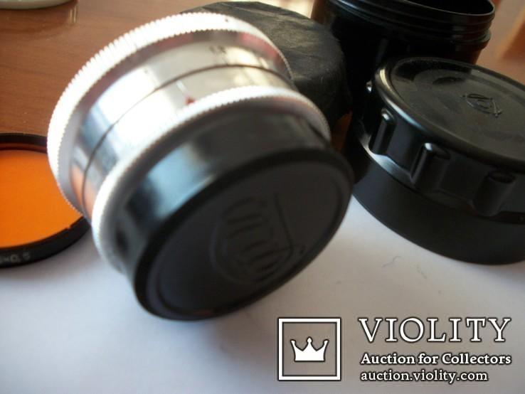 Объектив орион-15, светофильтр,крышка м-39, футляр, фото №4