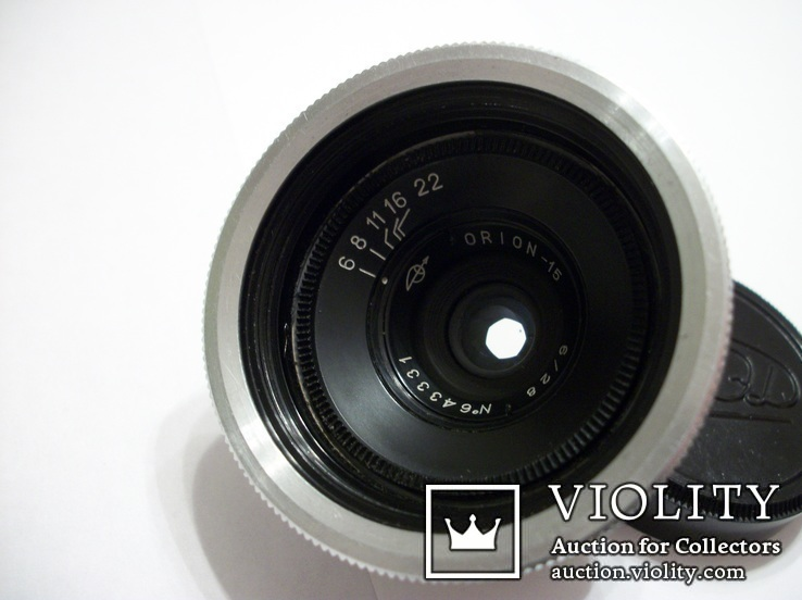 Объектив орион-15, светофильтр,крышка м-39, футляр, фото №5