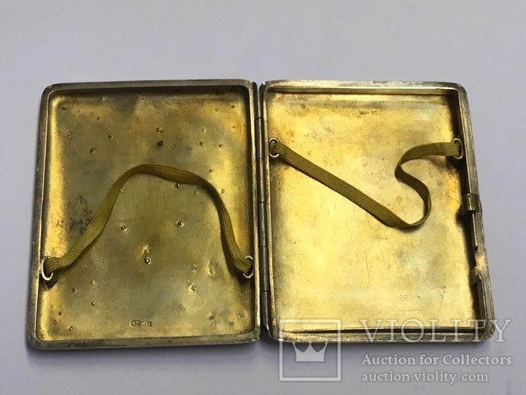 Портсигар Россия, начало 20 века. серебро, золото, фото №5