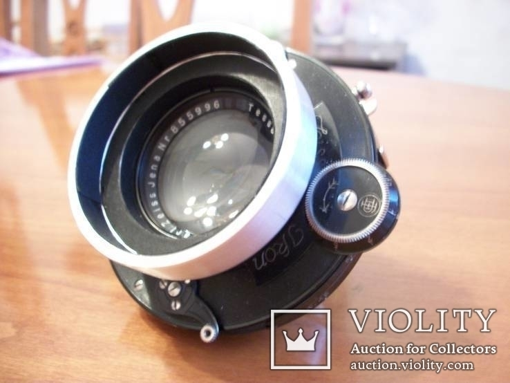 Объектив tessar 1:4,5 , f=15-cm, для камеры с центральным затвором, фото №3