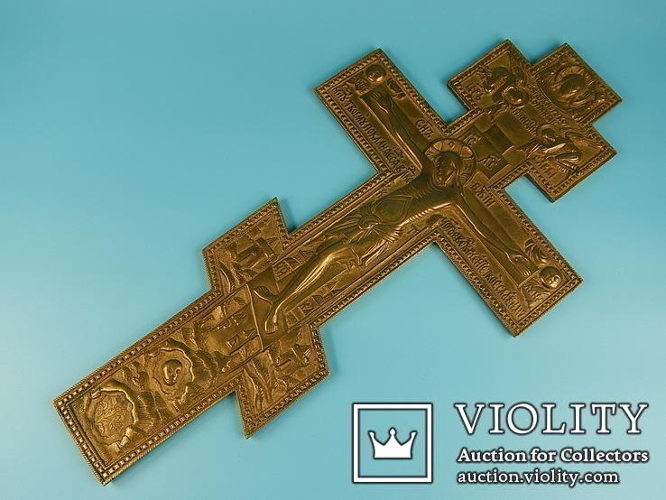 Восьмиконечный православный бронзовый крест.