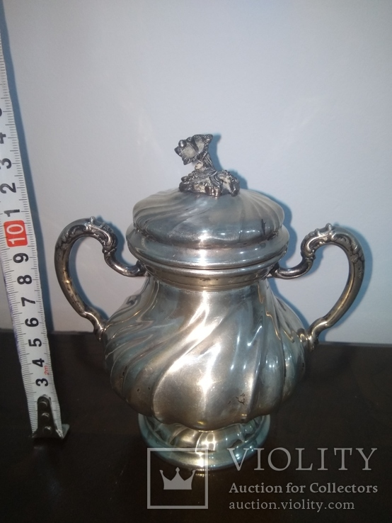 Сахарница серебро 800, фото №2