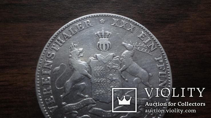 Талер  1863  Вюртемберг   серебро   (Лот.1.24)~, фото №3