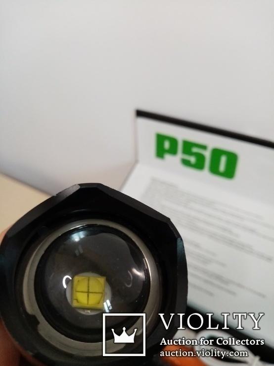Мощный фонарь р50, фото №4