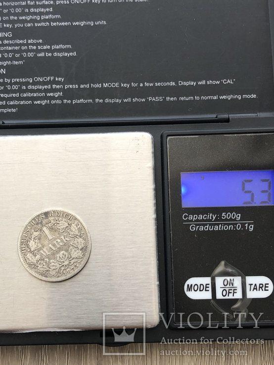 1 марка, 1875(Германия) серебро 900 проба (124), фото №3