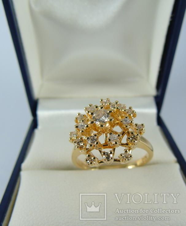 Золотое кольцо с бриллиантами, фото №4
