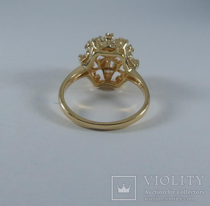 Золотое кольцо с бриллиантами, фото №10