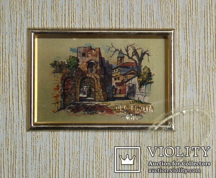 3.Картинка-мініатюрка на позолоті.Італія., фото №2