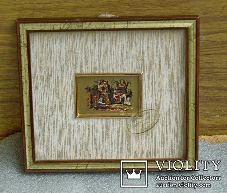 3.Картинка-мініатюрка на позолоті.Італія., фото №4