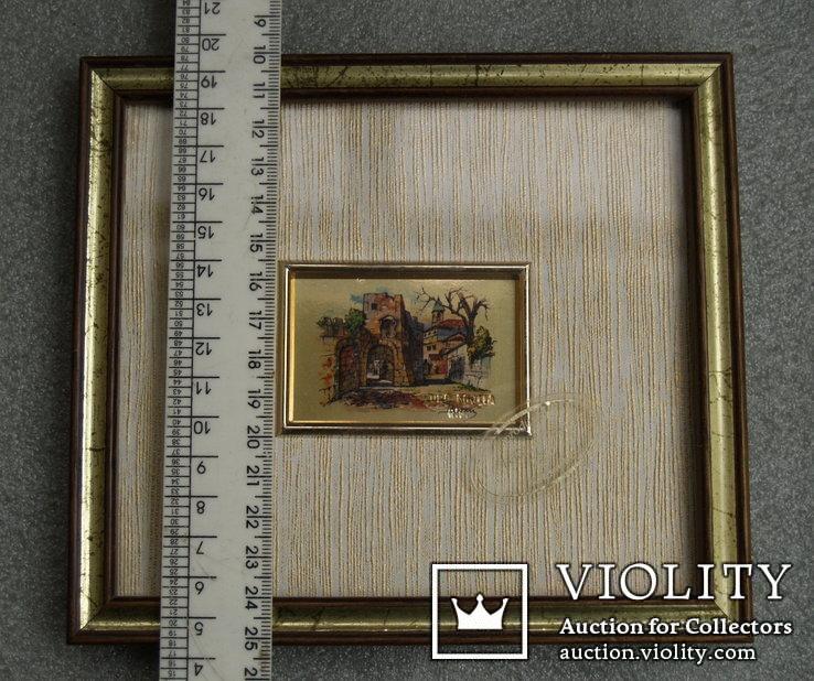 3.Картинка-мініатюрка на позолоті.Італія., фото №6