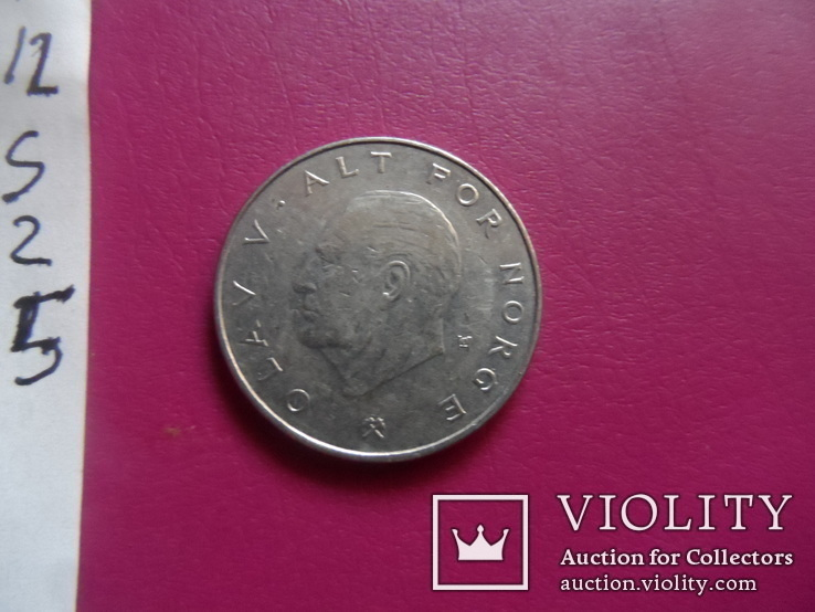1 крона  1982  Норвегия  (S.2.5)~, фото №4