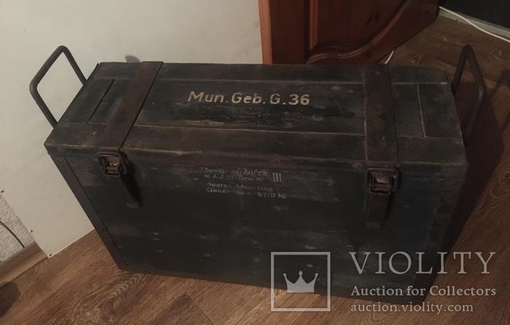 Немецкий ящик для горной пушки 1943 г