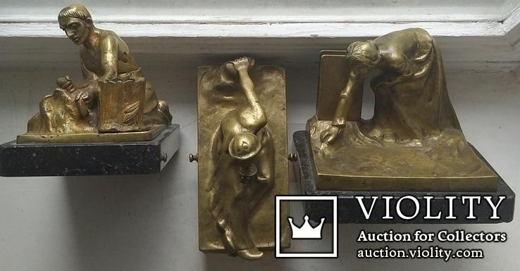 Бронзовый набор. ADOLF POHL (Адольф Поль ) 1872 - 1938 гг. Австрия., фото №8