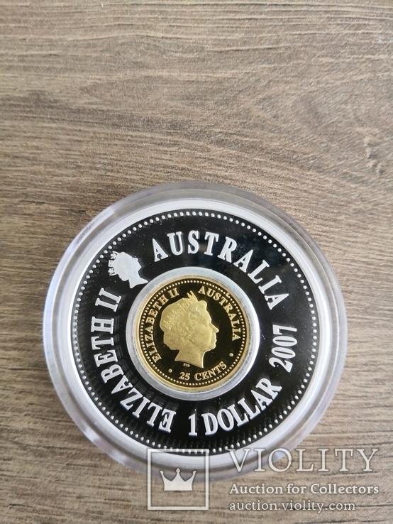 Lunar Holey Dollar 2007 Australia, фото №3