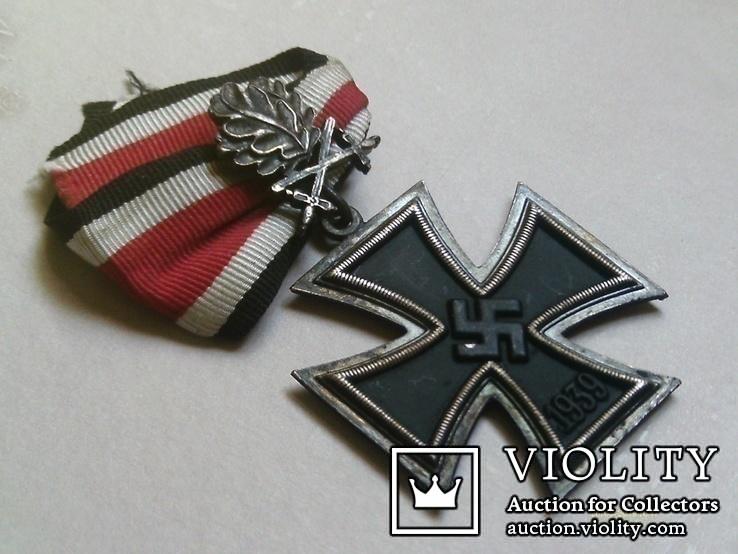Рицарский железный крест с листьям и мечами. Реплика., фото №5