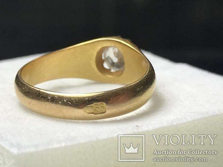 Золотое кольцо с бриллиантом 56 пробы Российская Империя, фото №8