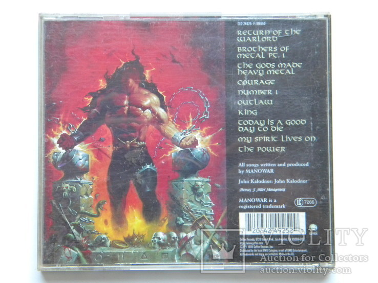 CD. ManowaR - Louder Than Hell., фото №3