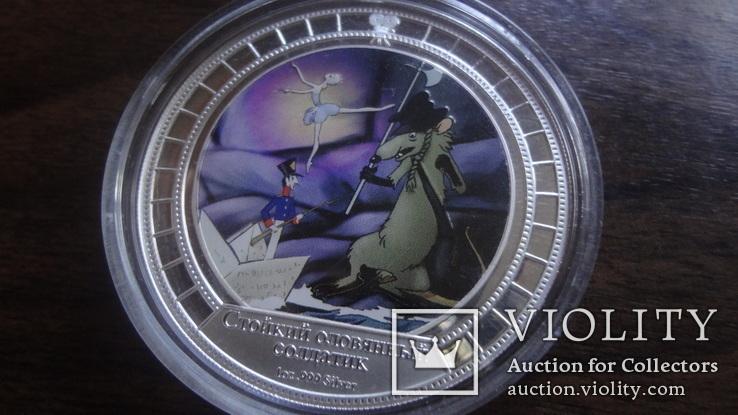 2  доллара 2008 острова Кука Стойкий оловянный солдатик Союз Мультфильм серебро 999 унция, фото №5