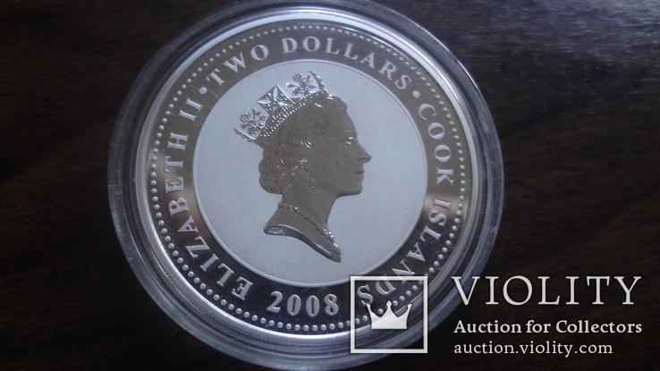 2  доллара 2008 острова Кука Стойкий оловянный солдатик Союз Мультфильм серебро 999 унция, фото №6