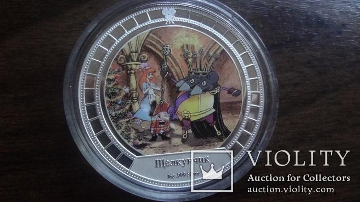 2  доллара 2008 острова Кука Щелкунчик Союз Мультфильм серебро 999 унция, фото №2