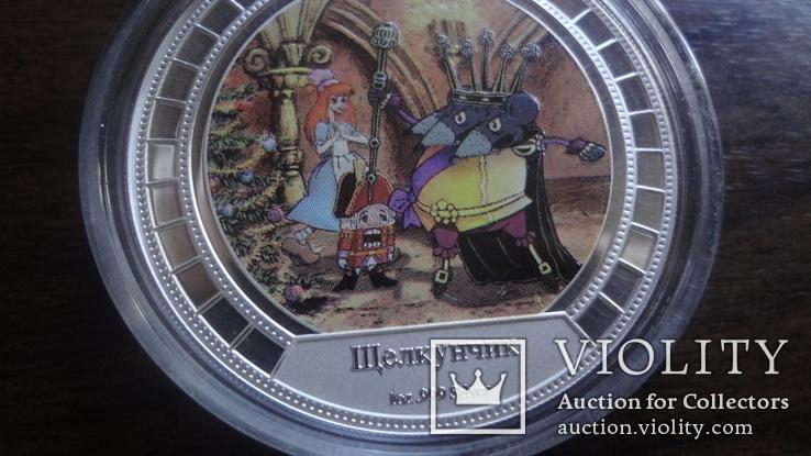 2  доллара 2008 острова Кука Щелкунчик Союз Мультфильм серебро 999 унция, фото №4