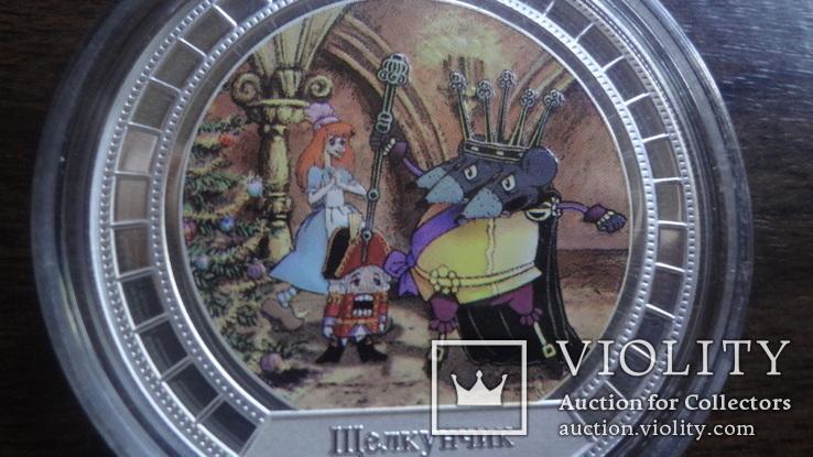 2  доллара 2008 острова Кука Щелкунчик Союз Мультфильм серебро 999 унция, фото №5