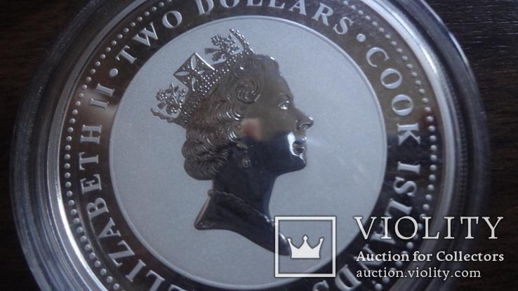 2  доллара 2008 острова Кука Щелкунчик Союз Мультфильм серебро 999 унция, фото №9