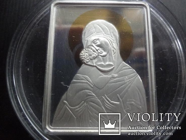 5 долларов 2011 о-ва Кука икона Мадонна серебро 25 грамм~, фото №2