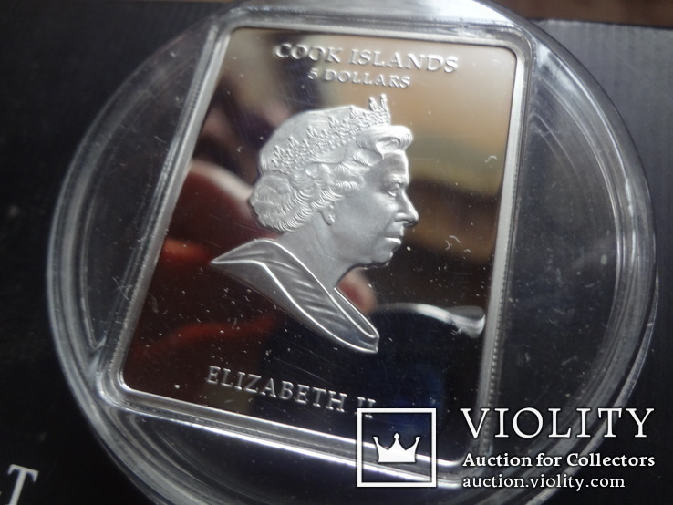 5 долларов 2011 о-ва Кука икона Мадонна серебро 25 грамм~, фото №5