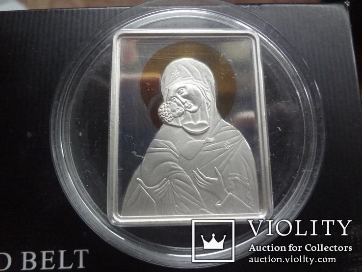 5 долларов 2011 о-ва Кука икона Мадонна серебро 25 грамм~, фото №7