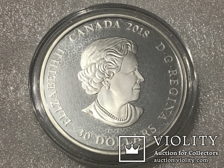 30 долларов Канада. 2018 г. (62.69 г) Серебро, фото №2