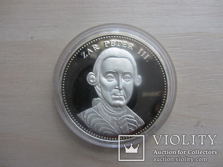 Германия, Царь Петр ІІІ,  серебро 999. 20 г, фото №2