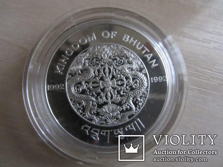 "Бутан, 300 ngultrum "" Боксер"", 1992, серебро 925., фото №3"