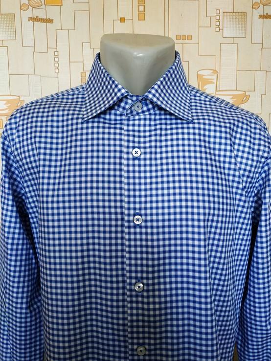 Рубашка сине белая AMAZING SEVIIEN коттон p-p L(41-42)(состояние нового)