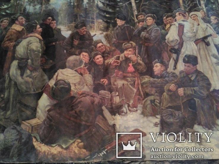 """Копия картины Непринцева Ю.М. """"Отдых после боя"""", фото №2"""