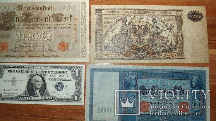 4 банкноты 1910,1919,1957 год доллар1957g777, фото №2