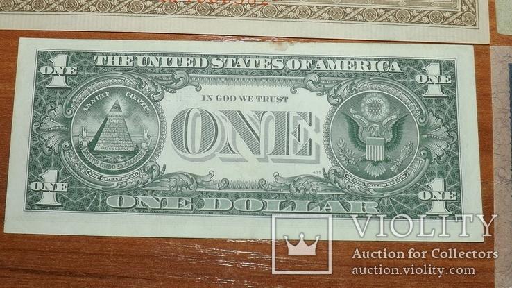 4 банкноты 1910,1919,1957 год доллар1957g777, фото №12