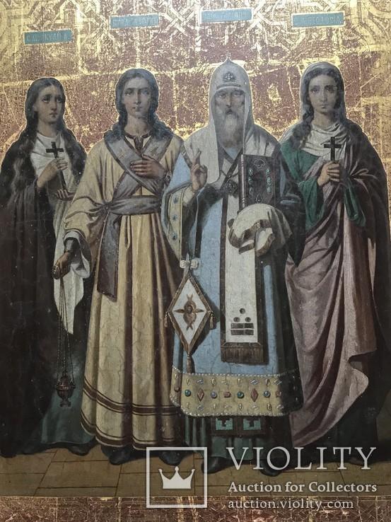 Храмовая икона с изображением Святых: С.М. Акулина, Св. Стефан, Св. Филип, С.М. Феодосия, фото №3