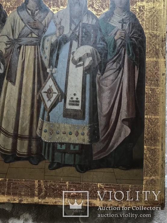 Храмовая икона с изображением Святых: С.М. Акулина, Св. Стефан, Св. Филип, С.М. Феодосия, фото №6