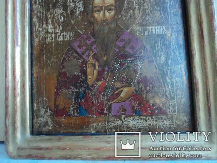 Икона Св. Антипий в киотной раме, фото №5