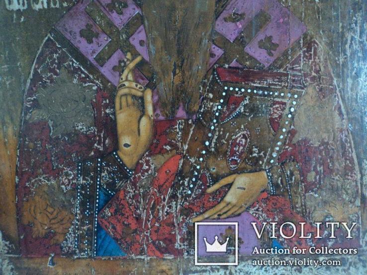 Икона Св. Антипий в киотной раме, фото №8