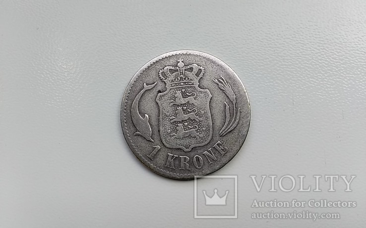 1 крона 1875 г. Дания., фото №3