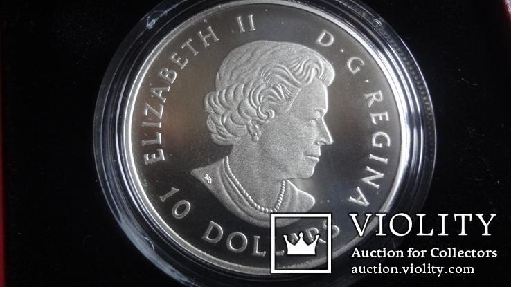 10  долларов  2017  Канада озеро Пейто  серебро, фото №5