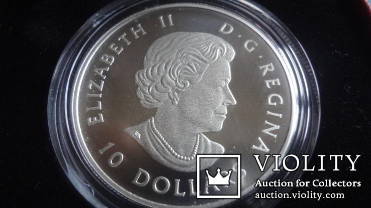 10  долларов  2017  Канада озеро Пейто  серебро, фото №6