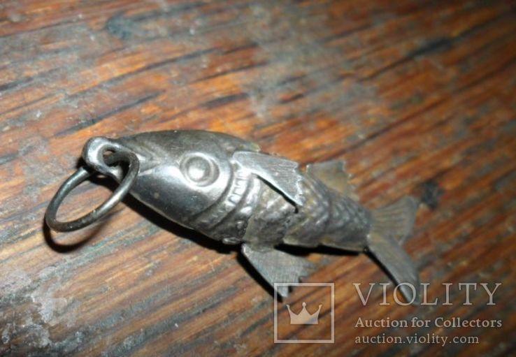 Кулон рыба. серебро, фото №4