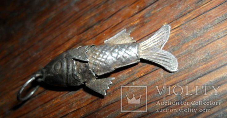Кулон рыба. серебро, фото №6