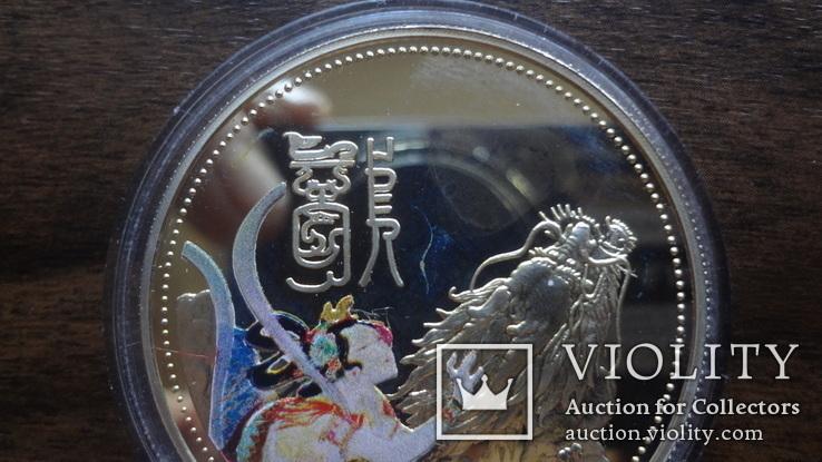 10  долларов 2000 Сомали Дракон серебро, фото №4